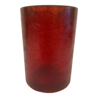 1970s Sascha Brastoff Red Resin Candle Holder