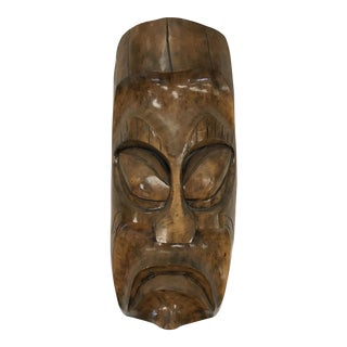 Carved African Mask Wall Hanging
