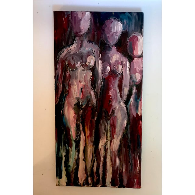 Late 20th Century Late 20th Century Nudes Oil Painting For Sale - Image 5 of 5