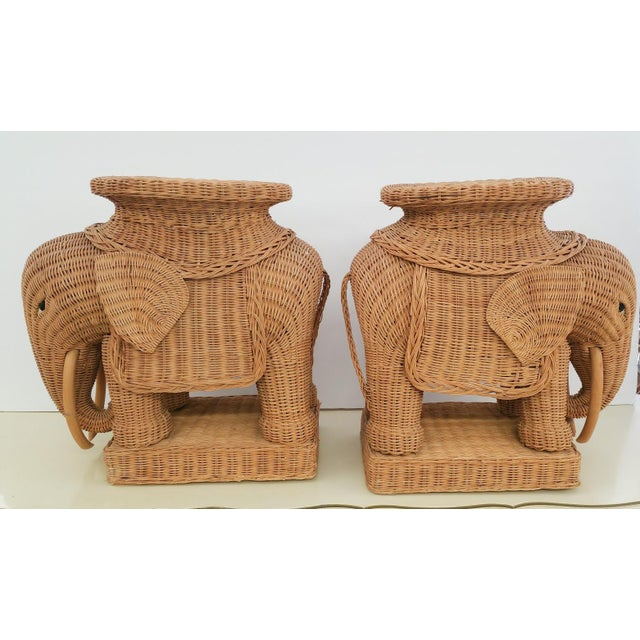 Hollywood Regency Wicker Elephant - A Pair - Image 2 of 6
