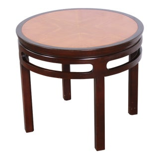 Michael Taylor for Baker Furniture Chinoiserie Teak and Mahogany Side Table For Sale