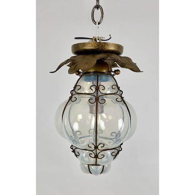 Smoked Glass Single Light Flush Mount Fixture For Sale - Image 9 of 9
