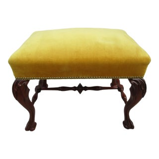 Early 20th Century Vintage Georgian Style Stool For Sale