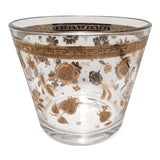 Image of Vintage Culver L. T. D. Gold & Crystal Ice Bucket For Sale