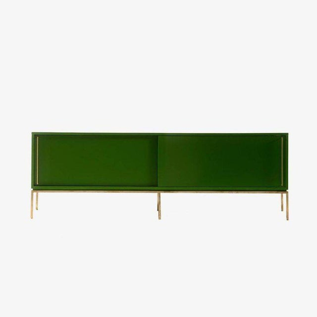 Re 379 Credenza in Wrought Iron With White Doors on Black Base For Sale - Image 10 of 13