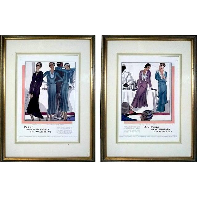 Black 1930 McCalls Dressmaking Pattern Advertisements- Pair For Sale - Image 8 of 8