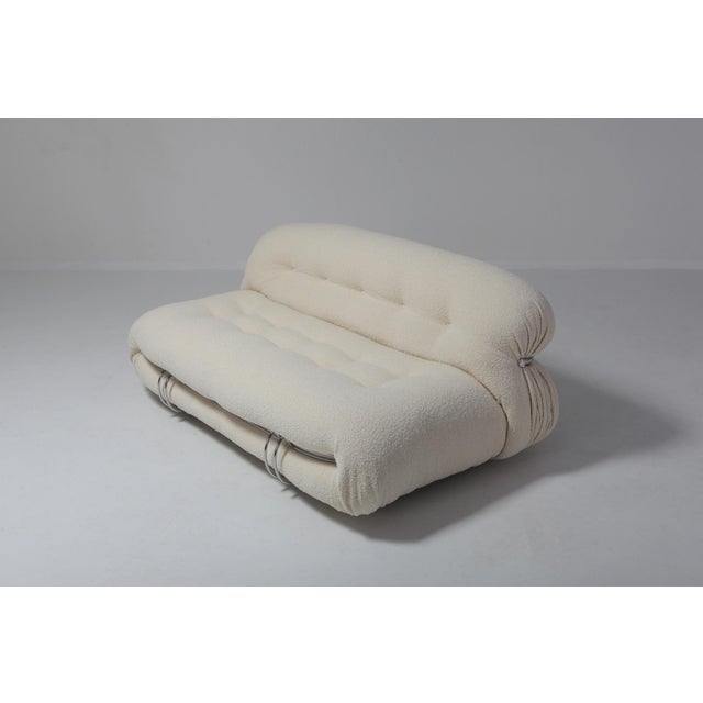 Soriana Two-Seat Sofa by Afra E Tobia Scarpa for Cassina For Sale - Image 6 of 11
