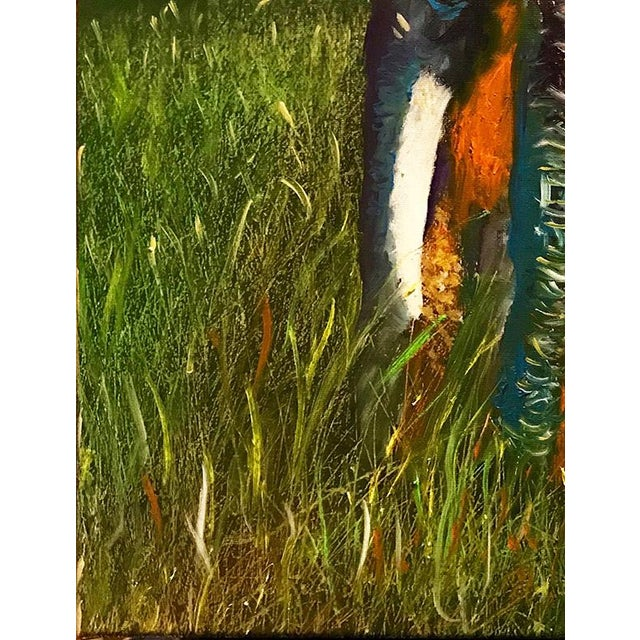 2020s Original Oil Painting of Elephant, Framed For Sale - Image 5 of 11