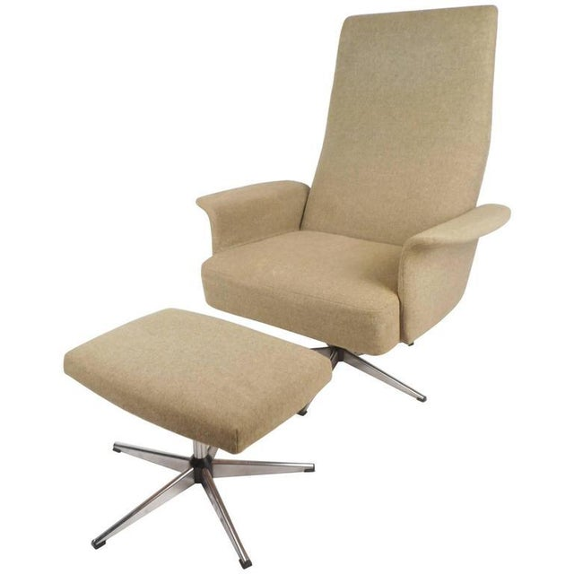 Mid-Century Modern Adjustable Danish Lounge Chair and Ottoman - Image 3 of 11