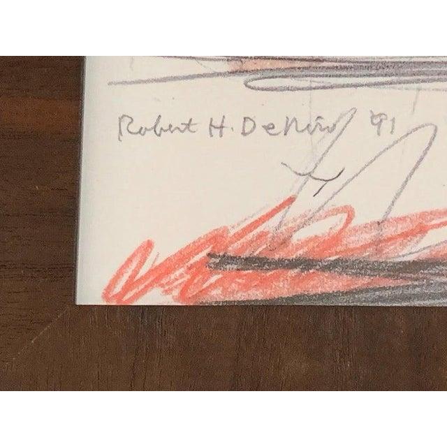 Expressionism Robert De Niro Sr. Iconic Maxwell Mahogany Bar Sketch For Sale - Image 3 of 7