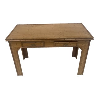 Mid Century Bamboo Writing Desk For Sale