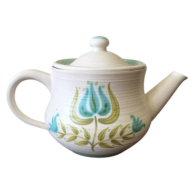 Franciscan Earthenware Mid-Century Floral Teapot - Image 1 of 8