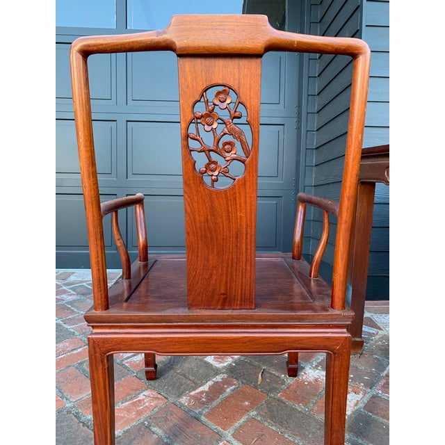 Pink Vintage Solid Rosewood Dining Set - 9 Pieces For Sale - Image 8 of 13