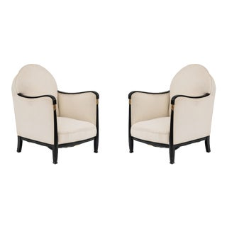 French Art Deco Bergére Arm Chairs