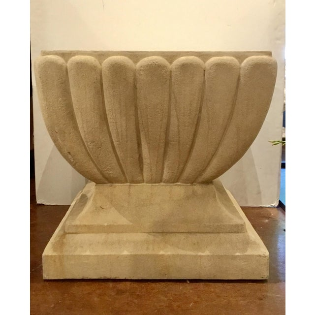 2010s Indoor/Outdoor Transitional Limestone Table For Sale - Image 5 of 5