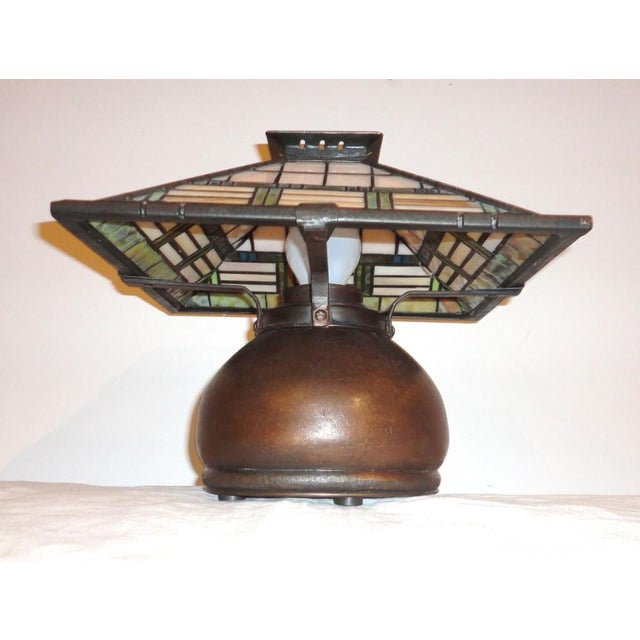 Fantastic Bronze Signed Arts & Crafts Table Lamp - Image 3 of 7