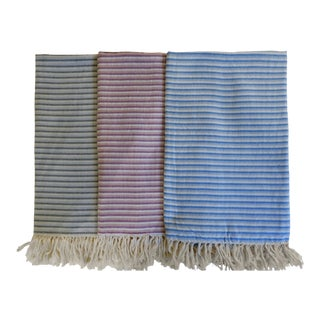 Turkish Hand Made Towel With Natural/Organic Cotton and Fast Drying,34x76 Inches (Set of 3) For Sale