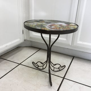 Hummingbird Stained Glass Accent Plant Stand Tables Preview