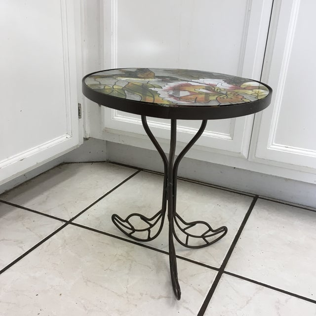If you love Hummingbirds then this Stained Glass Accent Tables will fit in with your decor. Small side table or plant...