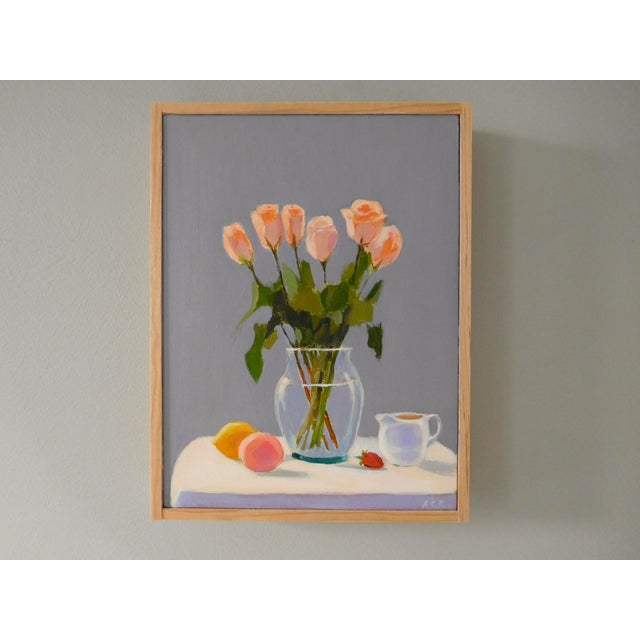 Anne Carrozza Remick Roses With Fruit and Creamer by Anne Carrozza Remick For Sale - Image 4 of 6