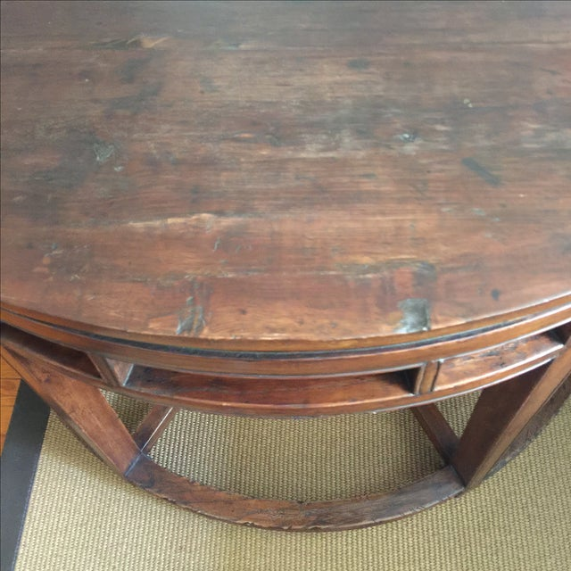 Anitique Chinese Chinois Demilune Tables - Pair - Image 8 of 10