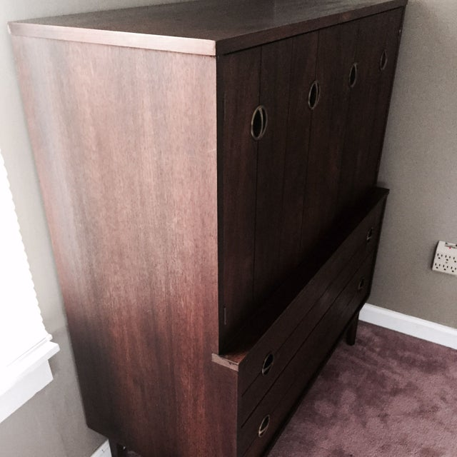 Mid-Century Modern Dresser With Doors - Image 7 of 7