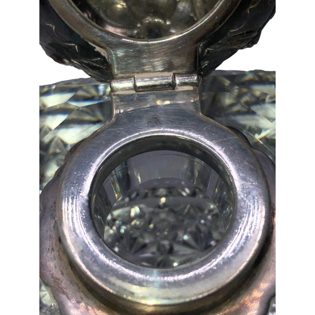 Antique Cut Glass and Sterling Inkwell For Sale In Dallas - Image 6 of 8