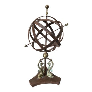 Iron Armillary Sculpture For Sale