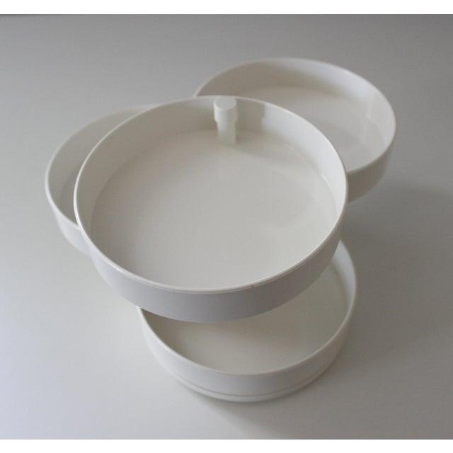 Modern InterDesign White Plastic Desk Organizer New Old Stock Modern For Sale - Image 3 of 6