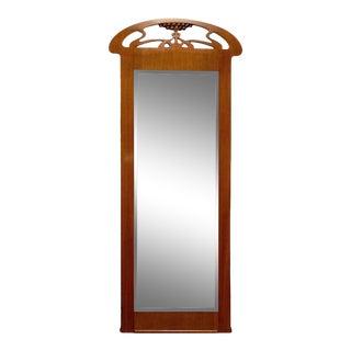 Swedish Jugend Art Nouveau Mahogany Pier Mirror For Sale