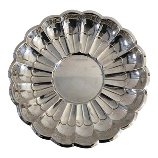 "Midcentury Style ""towle"" Silver Plate Serving Bowl For Sale"