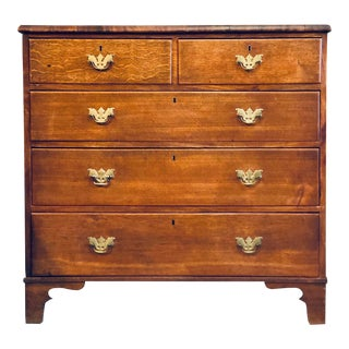 19th Century English Oak Chest For Sale