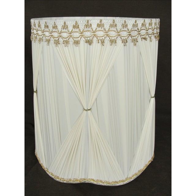 Vintage Mid-Century Modern Cloth Lamp Shade - Image 2 of 6