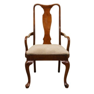 20th Century Queen Anne Henry Link Dining Arm Chair For Sale