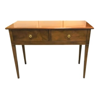 19th Century Traditional Kittinger Mahogany 2 Drawer Console Table For Sale