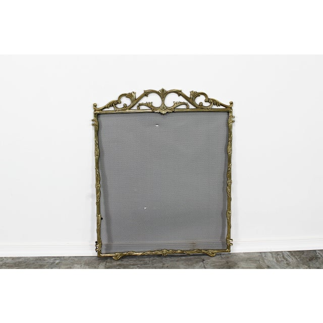 Vintage Solid Brass Fireplace Screen For Sale In Miami - Image 6 of 6
