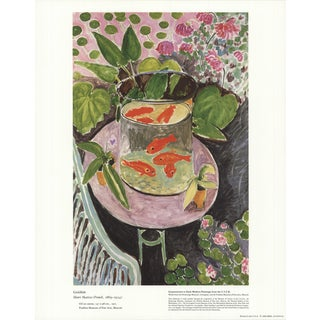 1986 Henri Matisse 'Goldfish' Modernism France Offset Lithograph For Sale