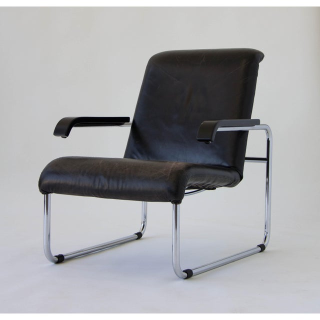 Marcel Breuer for Thonet B35 Leather Lounge Chair - Image 2 of 9