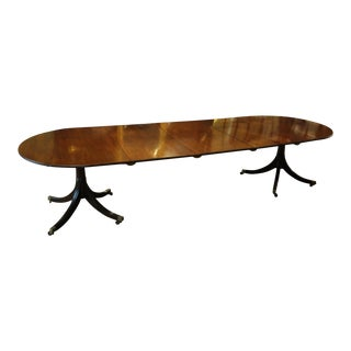 19th Century Georgian Mahogany Souble Pedestal Dining Table For Sale