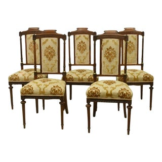 1900's Antique Dining Side Chairs - Set of 5 For Sale