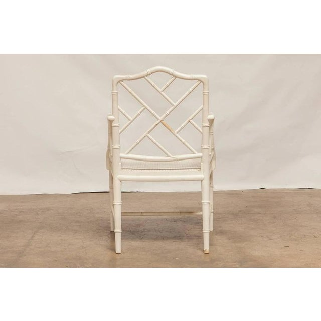 Chinese Chippendale Faux Bamboo Armchairs - Pair - Image 8 of 8