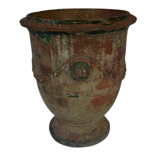 Antique Signed Anduze Pot For Sale