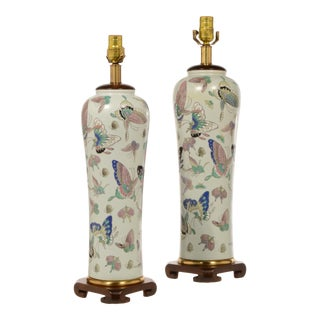 Vintage Frederick Cooper Porcelain Table Lamps - a Pair For Sale