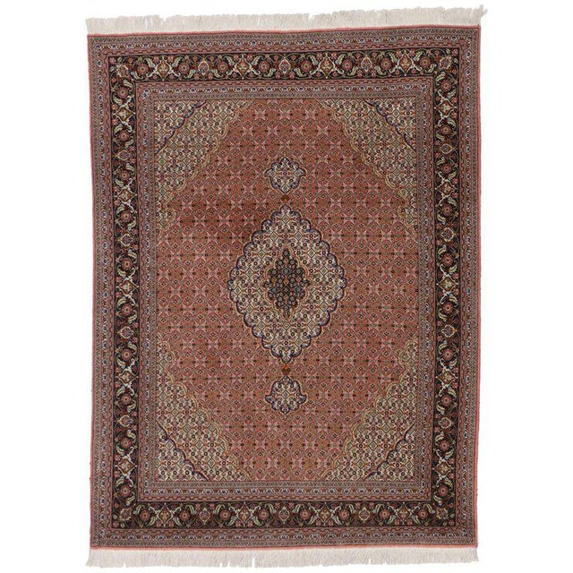Vintage Persian Tabriz Rug with Mahi Design and Traditional Style For Sale - Image 5 of 5