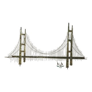 Curtis Jere Golden Gate Bridge Brutalist Sculpture Unsigned For Sale