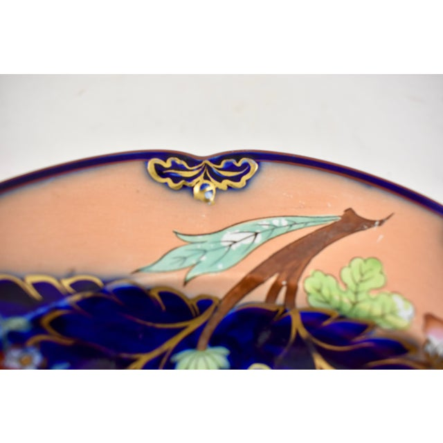 Mid 19th C. John Ridgway English Chinoiserie Style Imari Floral Plates, S/8 For Sale In Philadelphia - Image 6 of 13