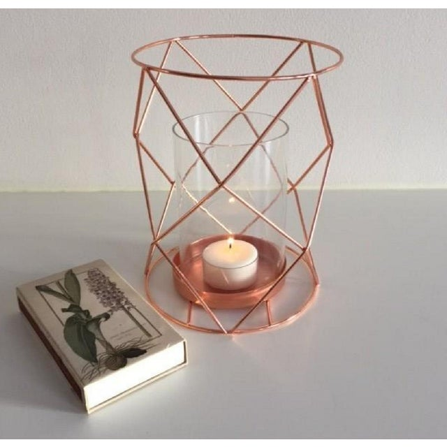 Copper Candle Coffee Table Display - Pair - Image 5 of 6