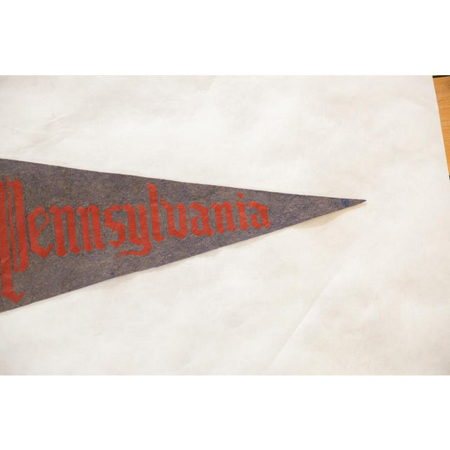 :: Vintage 1950s Pennsylvania (PA) University large felt flag pennant.
