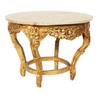Rococo Marble Top Center Table