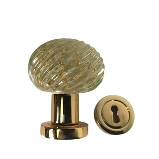 Murano Glass Door Knob Made in Italy by Barovier & Toso For Sale